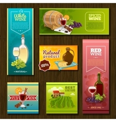 Wine Banners Set vector image
