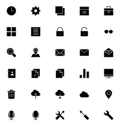 Universal Mobile Line Icons 1 vector image