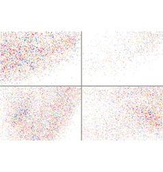 Confetti on white rectangle set vector