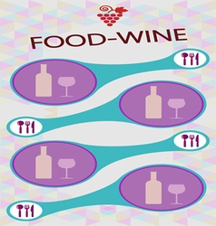 Food and wine info graphic vector