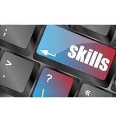 Skills message on enter key of keyboard keyboard vector