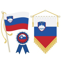 Slovenia flags vector