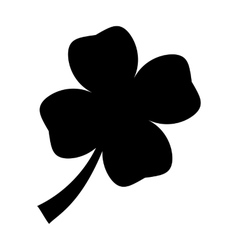 Silhouette leaf clover vector