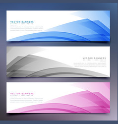 Abstract banners and headers set vector