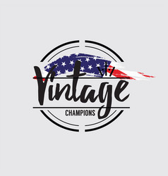 American made in usa retro vintage labels concept vector