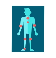 Anatomical scheme of human body in flat design vector
