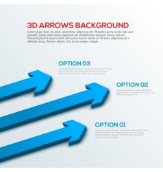 Arrows 3D background infographic vector image