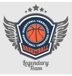 Basketball championship - emblem for t vector image