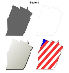 Bedford map icon set vector