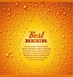 Beer with condensed water pearls vector image vector image