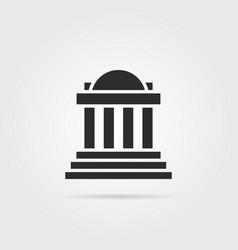 Black greek colonnade building with shadow vector