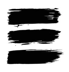 Black grunge backgrounds set vector