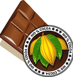 Chocolate with seal of quality - quality label vector