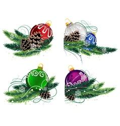Christmas decorations set vector