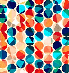 colored circles seamless pattern with grunge and vector image