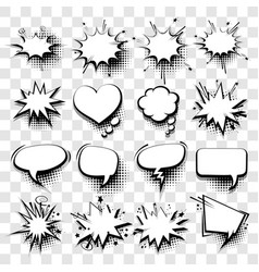 comic empty text speech bubble 20 vector image