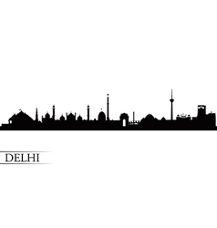 Delhi city skyline silhouette background vector image vector image