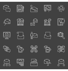 Email marketing icons set vector