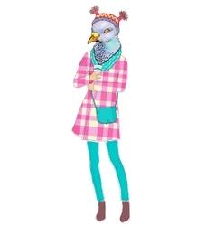 Fashion animal anthropomorphic vector