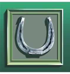 framed horseshoe vector image vector image