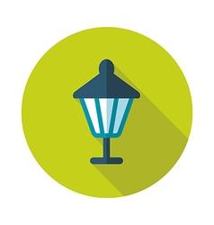 Garden lantern flat icon vector image vector image