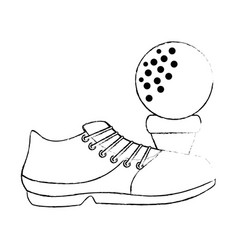 Golf shoe accessory with ball vector