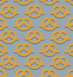 Pretzel seamless pattern beer snack background vector