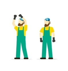 Repairman isolated cartoon mechanic person vector