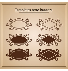 Retro banners on parchment vector