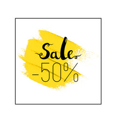 Sale lettering 50 off vector