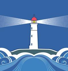 Sea lighthouse symbol vector image