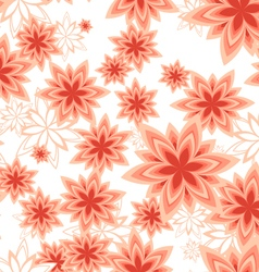 Seamless pattern geometric flower peach vector