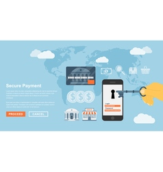 secure payment vector image vector image
