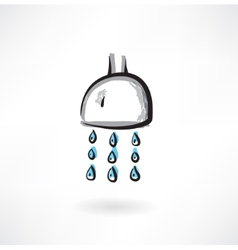 Showerhead grunge icon vector
