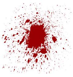 Splatter red color background vector