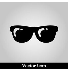 Sunglasses flat icon on grey background vector