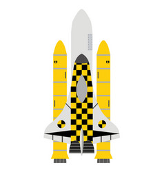 taxi service in space taxi-shuttle icon in flat vector image