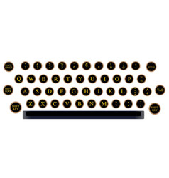typewriter key layout vector image vector image