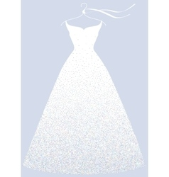 White bridal shower dress fashion vector