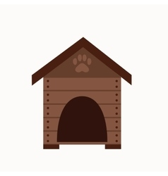 Dog house flat icon vector