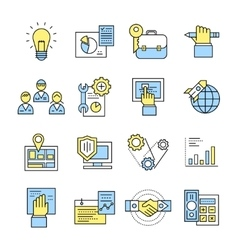Assembly icon set in color vector