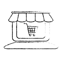 Store shop icon image vector