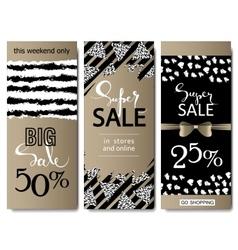 Set of social media sale website and mobile banner vector