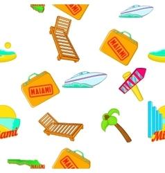 Miami city pattern cartoon style vector