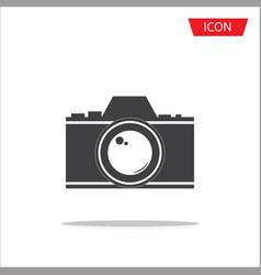 camera lens icon photography symbols vector image