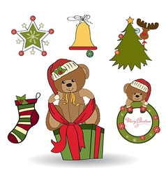 Christmas decoration elements set vector