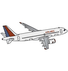 Jet airliner vector