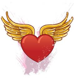 Heart with wings illustration vector