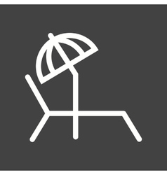 Sunbathing chair vector