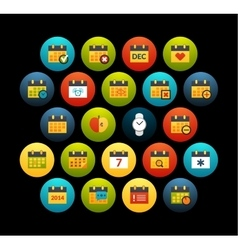 Flat icons set 16 vector
